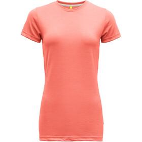 Devold Eika T-shirt Femme, coral